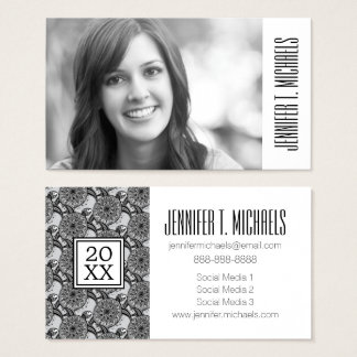 Photo Graduation | Style Turtle Pattern Business Card