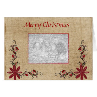 Photo Greeting Card - Merry Christmas
