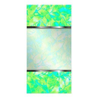 Photo Grunge Art Floral Abstract Photo Card Template