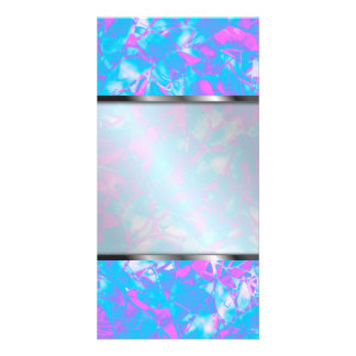 Photo Grunge Art Floral Abstract Personalized Photo Card