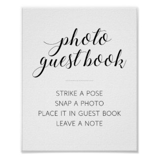 Photo Guest Book Wedding Sign - Alejandra Poster