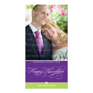 PHOTO HANUKKAH CARD :: lovely type 2 Picture Card