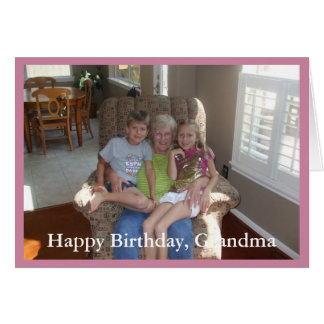 Photo Happy Birthday Grandma - Greeting Card