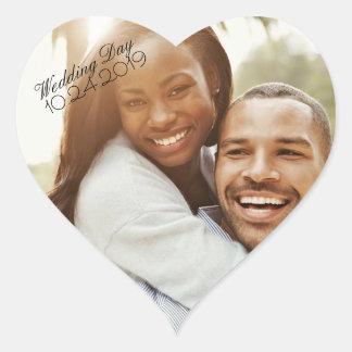 Photo Heart Sticker Wedding Date Reminder