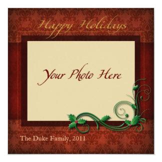 "Photo Holiday Card, ""Happy Holidays"" 13 Cm X 13 Cm Square Invitation Card"