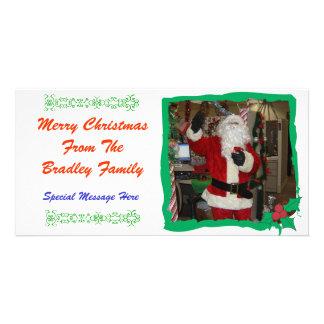Photo Holly Christmas Card Customised Photo Card