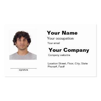 Photo ID Boy Business Card Made Easy