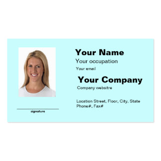 Photo ID Girl Business Card Made Easy