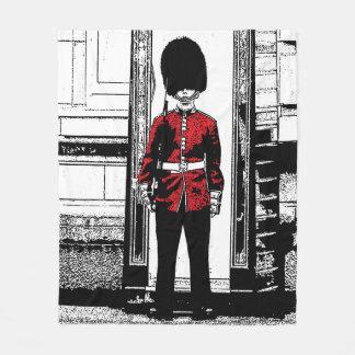 Photo Illustration Buckingham Palace Guard Fleece Blanket