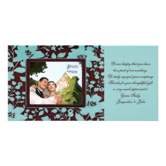 Photo Insert Cards ~ Thank You Wedding Flowers Customized Photo Card