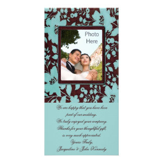 Photo Insert Cards ~ Thank You Wedding Flowers Personalized Photo Card