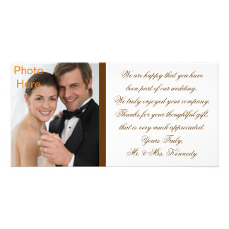 Photo Inserts Cards - Wedding Thank You Personalized Photo Card