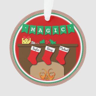 Photo + Magic Night Before Christmas 3 Stocking Ornament