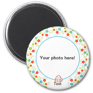 Photo magnet template