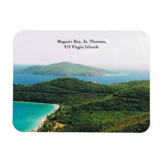 Photo Magnet with Island Scene