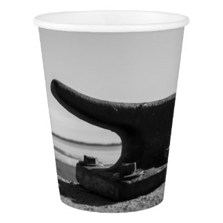 photo marine, black and white topic paper cup