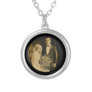 Photo Memorial Charm for Wedding Bouquet in Black Jewelry