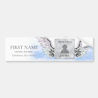 Photo Memorial Template Bumper Sticker