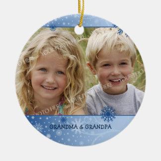 Photo Merry Christmas Grandparents Ornament