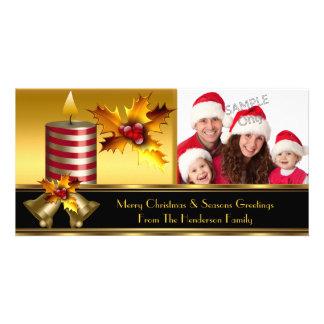 Photo Merry Christmas Season Greetings Family Photo Greeting Card