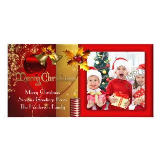 Photo Merry Christmas Season Greetings Family Custom Photo Card