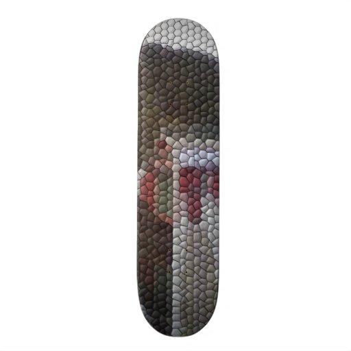 Photo mosaic skateboard