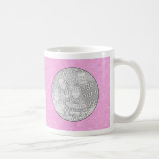 Photo Mug Template - Pink Swirl