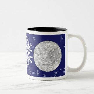 Photo Mug Template - Winter Snowflakes