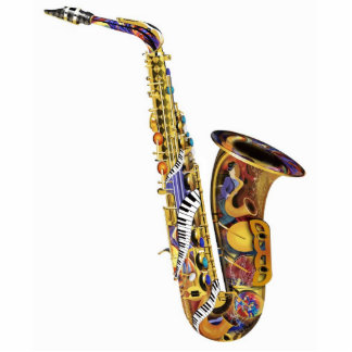 Photo Music Sculpture 3D Acrylic Saxophone Standing Photo Sculpture