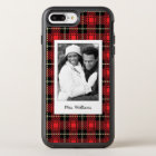 Photo & Name Red Plaid Background OtterBox Symmetry iPhone 8 Plus/7 Plus Case