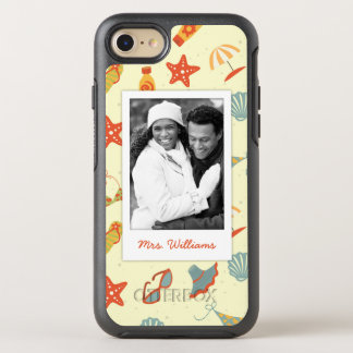 Photo & Name Summer Beach Pattern OtterBox Symmetry iPhone 7 Case