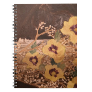 Photo Notebook (80 Pages B&W) Flowers with a Log