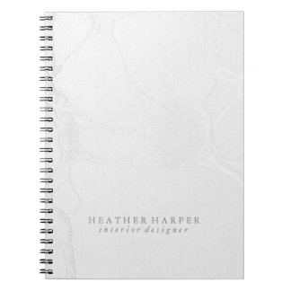 Photo Notebook - Silver Marble