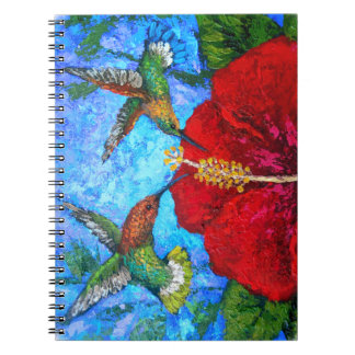 Photo Notebook With Hummingbirds Painting