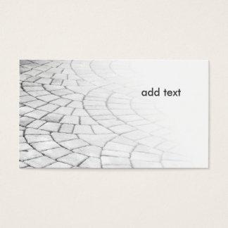 photo of a brick walkway in a herringbone pattern business card
