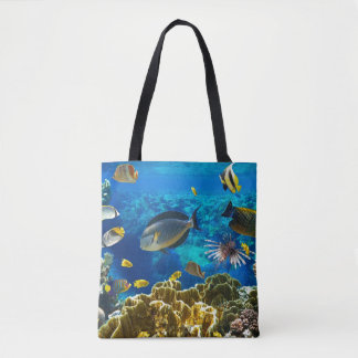Photo of a tropical Fish on a coral reef Tote Bag