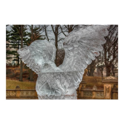 Photo of Angel Ice Sculpture in Central Park