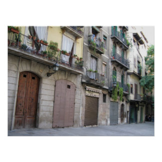 Photo of Barcelona, Barri Gòtic (Gothic Quarter) Poster