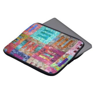Photo Of Batik Quilt Squares Laptop Sleeve