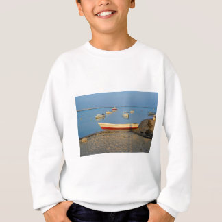 Photo of boats in bay at sunset in Portugal Sweatshirt