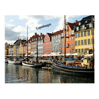 Photo of canal in Copenhagen Postcard