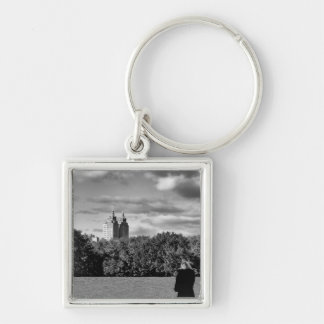 Photo of Central Park in Black and White Key Chain