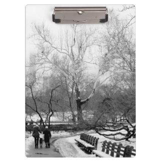 Photo of Central Park Winter Landscape Clipboard