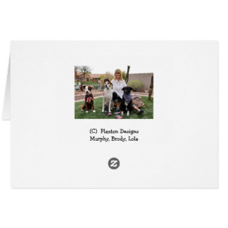 Photo of dog in tub, shower cap, earrings card