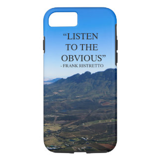 Photo of mountains in Stellenbosch with a qoute. iPhone 8/7 Case