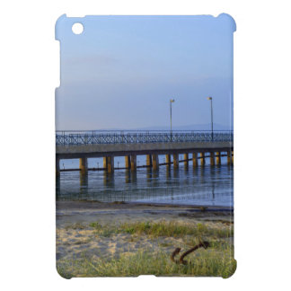 Photo of pier in sunset with anchor iPad mini cover