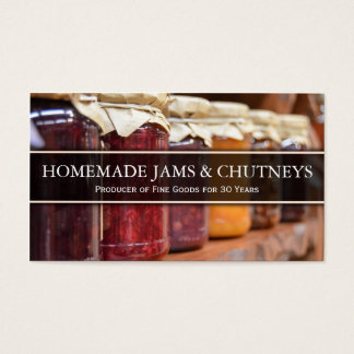Photo of Traditional Jam in Jars - Business Card