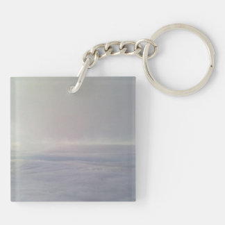 Photo over the cloud square acrylic keychain