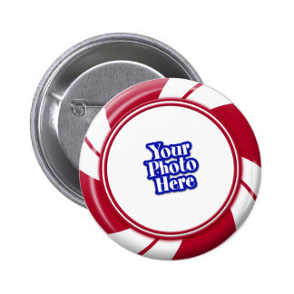 Photo Peppermint Swirl Stripe Candy Button