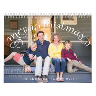 Photo Personalized Calendars Merry Christmas